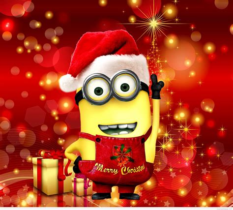images of christmas minions funny minion merry christmas wallpapers sayings