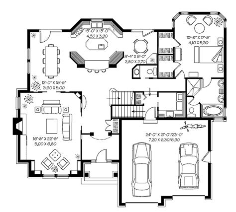 Square Living Room Floor Plans Modern Small House Plans Modern House Floor Plans 3000