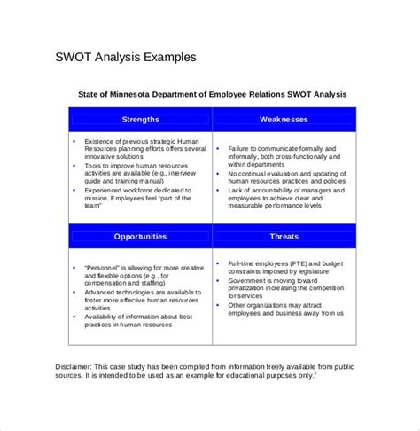 swot analysis template 52 free word excel pdf free