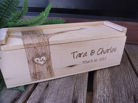 Wedding Gift Wine Box wine box wedding wine box gift for and by