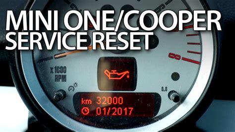 mini cooper service light reset mini one cooper service reset mr fix info