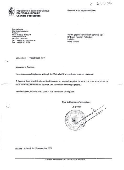 Brief Französisch Musterbrief Hausdurchsuchung Beim Vgt Missbrauch Des Anti Rassismus Verbotes Tier Kz Prozess