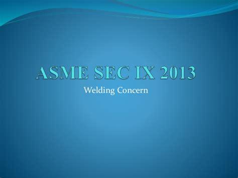 asme section ix ppt asme sec ix w