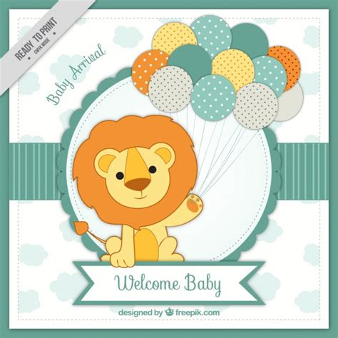 baby arrival cards templates baby arrival card with vector free