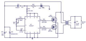 dc power to ac inverter wiring diagram get free image about wiring diagram
