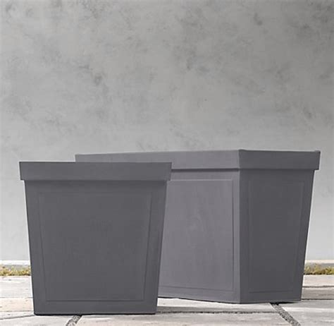 paneled sheet metal planters modern patio by restoration hardware