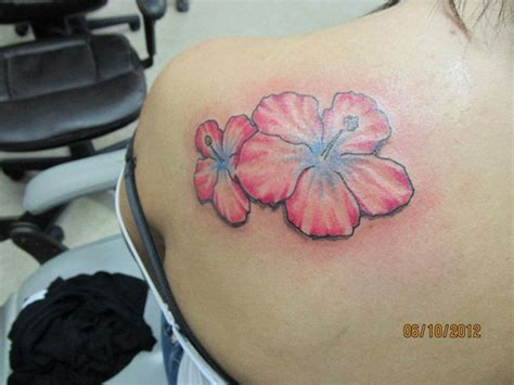 pink flower tattoo 71 cool flowers shoulder tattoos
