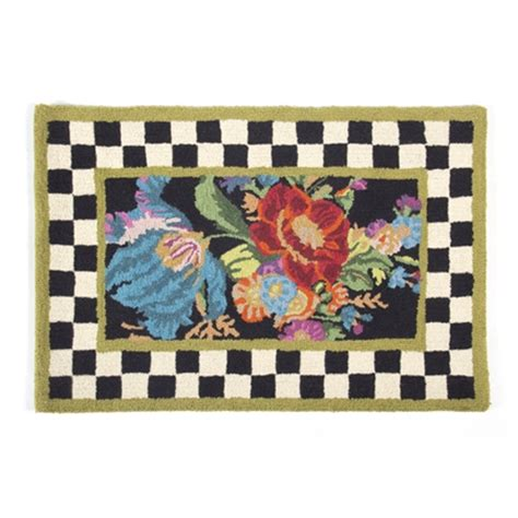 mackenzie childs rug mackenzie childs flower market rug 2 x 3 chelsea gifts