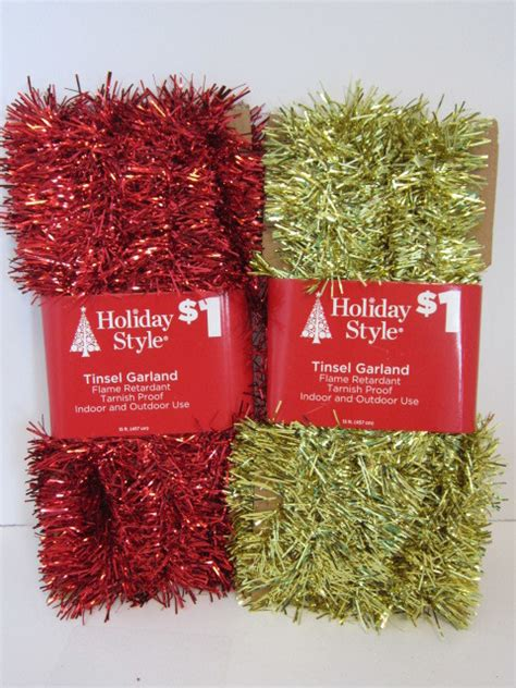 wholesale assorted christmas tinsel garland sku 1870215