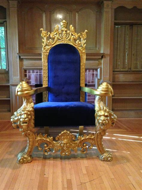 large throne chair large gold blue lions king chair throne loveseat