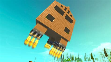 the flying house the flying house scrap mechanic youtube