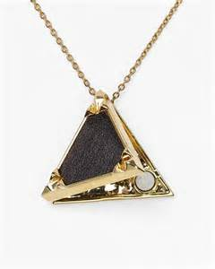 house of harlow 1960 black leather triangle locket
