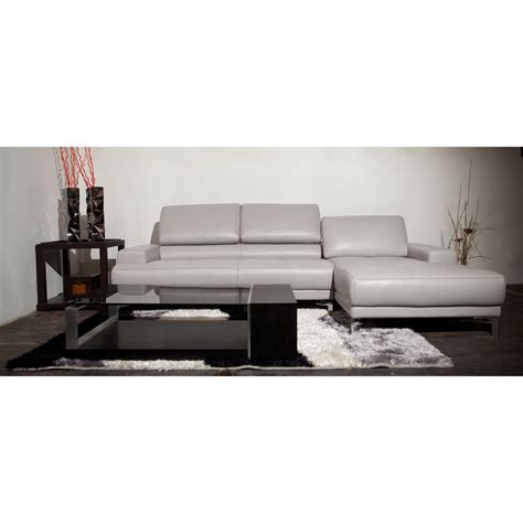 grey leather chaise sofa living room contemporary living room design present light