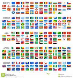 drapeaux de pays du monde de vecteur r 233 gl 233 s illustration