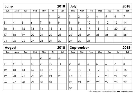 printable calendar july august 2018 calendar june july august september 2018 happyeasterfrom com