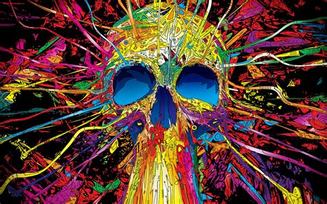 colorful skull colorful skull amazing hd 3d wallpapers 3d backgrounds