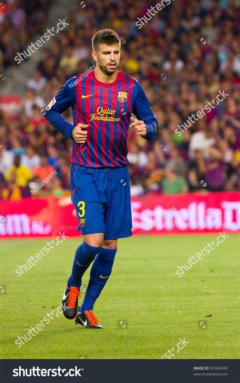 barcelona last match barcelona august 17 gerard pique of barcelona in action