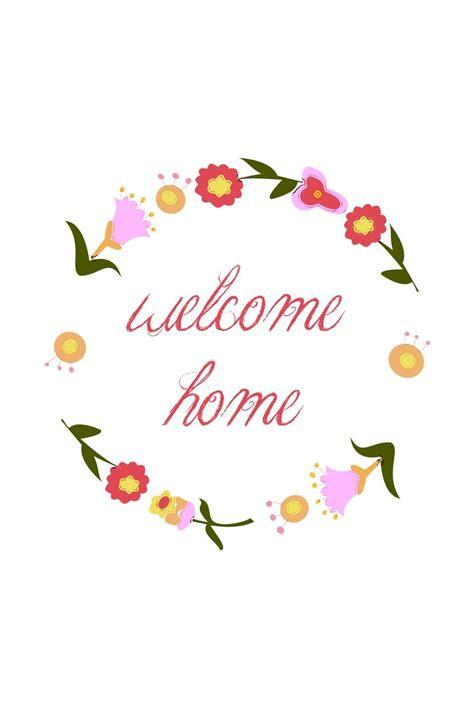 bright  home lettering   vector art