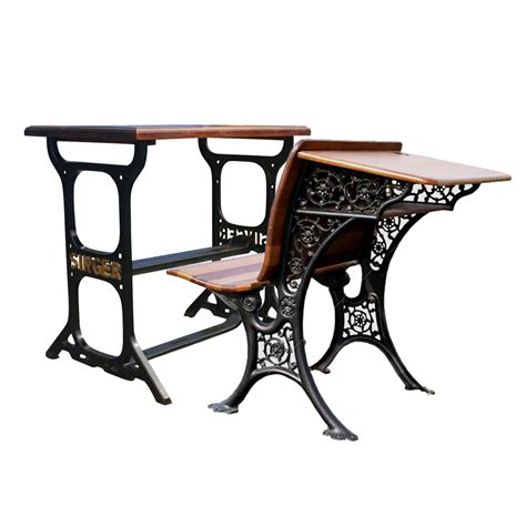 Wood And Wrought Iron Desk by Machine Age Wrought Iron Wood Table Desk Bench Set Ebay