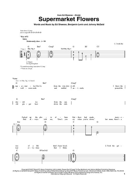ed sheeran supermarket flowers chords supermarket flowers sheet music music for piano and more