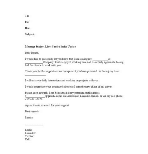farewell letter to colleagues template 40 farewell email templates to coworkers template lab