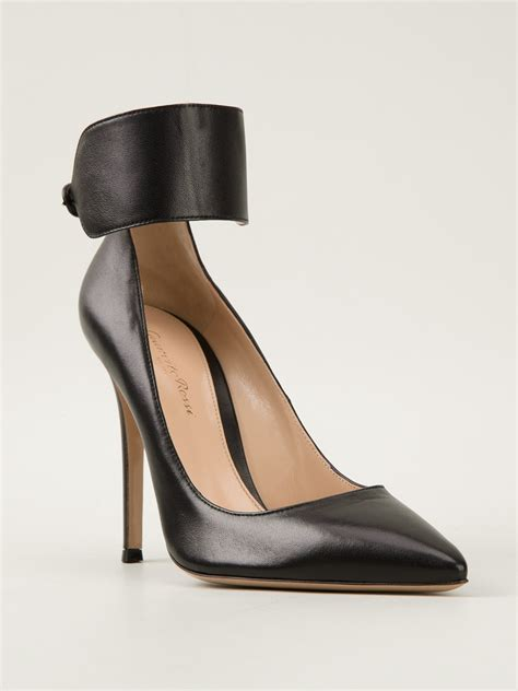 Pumps In Black lyst gianvito ankle pumps in black