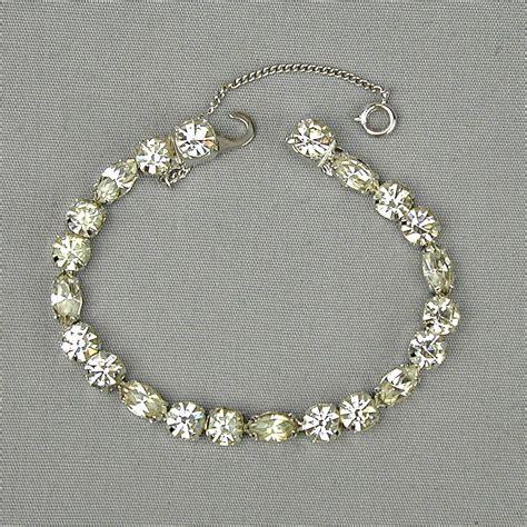 Rhinestone Bracelet eisenberg faux rhinestone bracelet from
