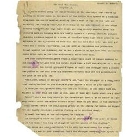 Rejection Letter Manuscript robert e howard manuscript and rejection letter robert e