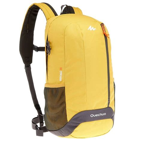 Backpack Quechua Arpenaz 20l Arpenaz 20l Hiking Backpack Yellow Grey Decathlon