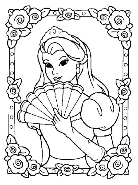 imagenes para pintar de princesas dibujos de princesas para pintar y colorear gratis