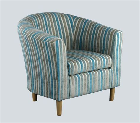 Teal Striped Armchair Teal Striped Tub Chair Tub Chairs