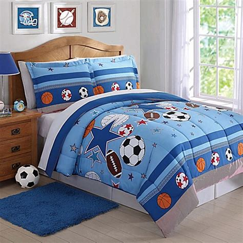 sports and stars comforter set in blue bed bath beyond