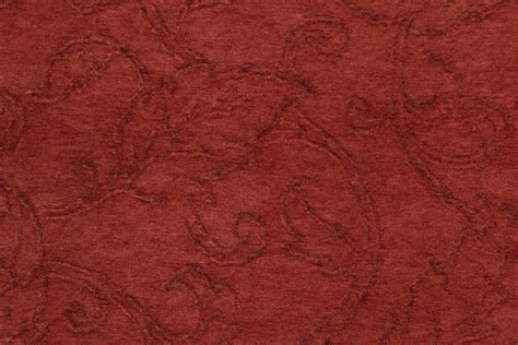 Upholstery Chenille Fabric by Barrow M7403 Chenille Upholstery Fabric In Redwood