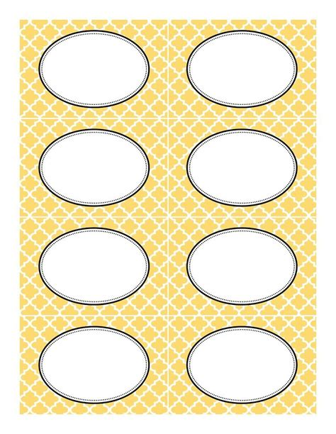 yellow moroccan tile label template jpg 1 237 215 1 600 pixels