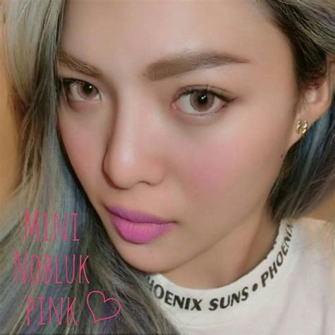 Softlens Dreamcolor Mini Nobluk Pink contact lens dreamcon mini nobluk pink color lens korean lens