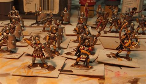 painting warlord romans rabbits in my basement painting warlord s plastic