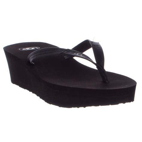 Wedge Flip Flops ugg australia ruby wedge flip flop womens ebay