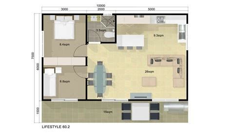 Floor Plan Guest House 2 Bedroom Guest House Pinterest