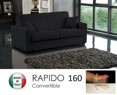 canapé convertible 160 cm canape convertible rapido 160cm dreamer tissu microfibre