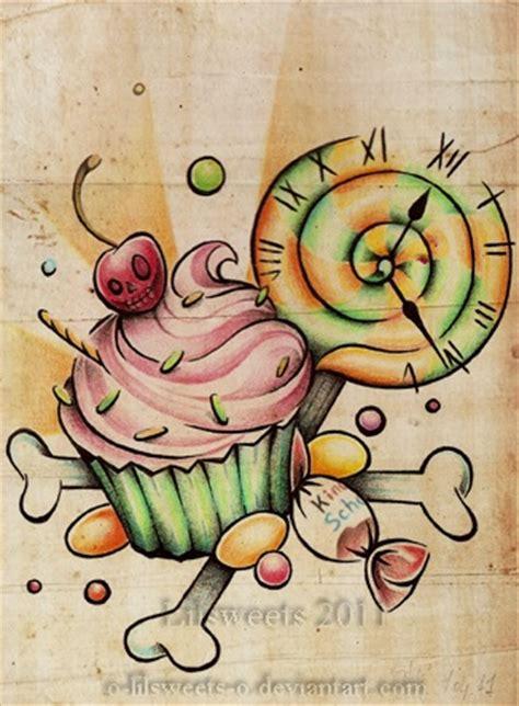 candy tattoos designs best 20 cupcake tattoos ideas on