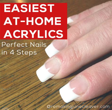 easiest diy acrylic nails remakingjune