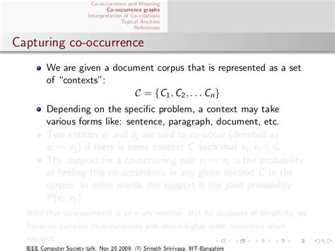 java occurrence of a pattern semantics hidden within co occurrence patterns