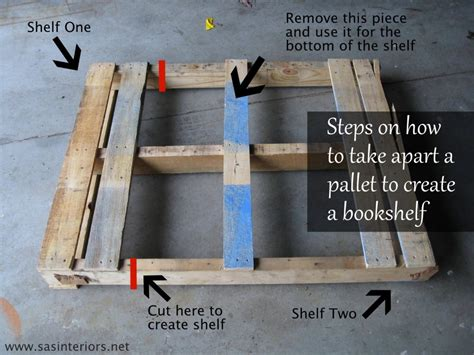 how to make a pallet bookshelf refurbished ideas