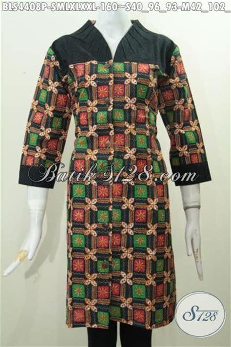 desain baju batik solo baju batik blus bagus bahan halus motif trendy pakaian