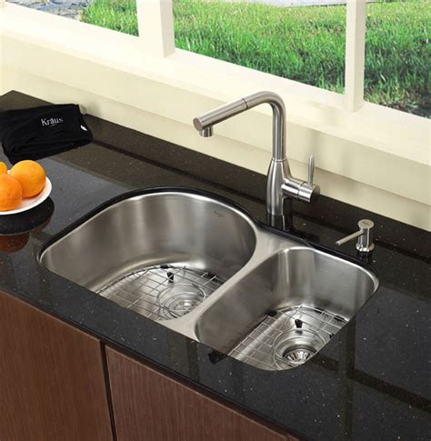 60 40 kitchen sink kraus kbu21 30 inch undermount 60 40 bowl kitchen