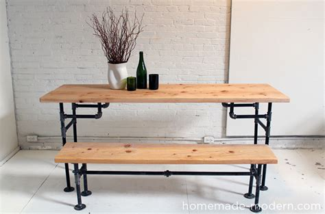 diy wood table with pipe legs modern ep3 wood iron table