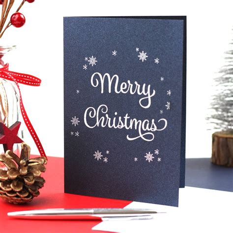 merry christmas traditional greeting card    punctuate notonthehighstreetcom