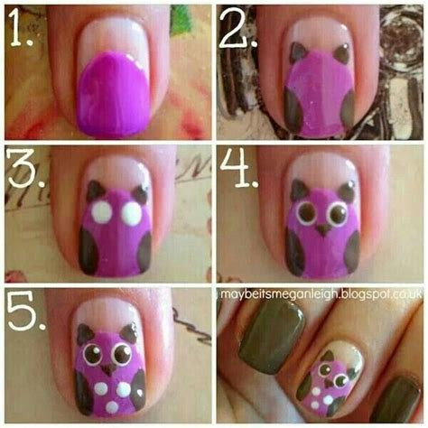 nail art tutorial wikihow owl nail art tutorial cute step by step nails step by
