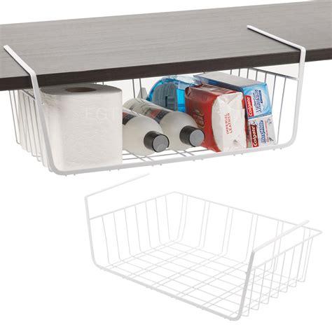 under cabinet basket storage 2 x under shelf table storage basket rack kitchen wire