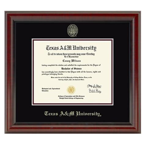 texas a m desk accessories texas a m university diploma frame fidelitas